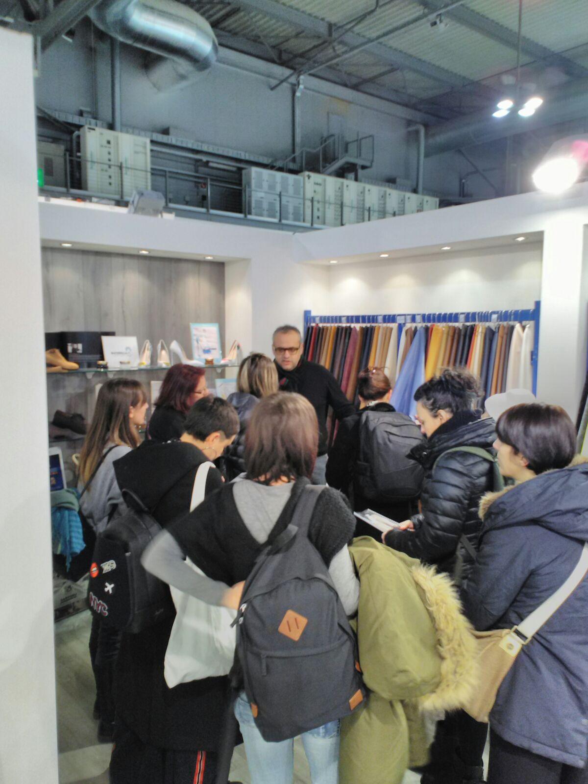 Gli studenti ITS  settore Moda   in visita a Lineapelle