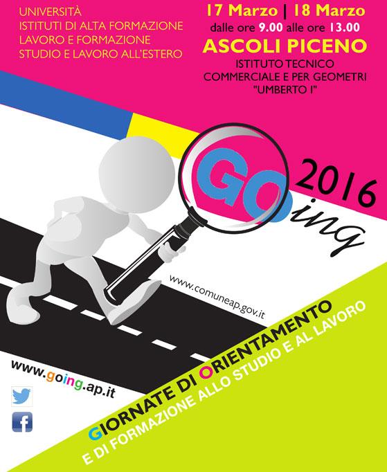 Il nostro  ITS  partecipa all'edizione 2017 delle giornate di orientamento GOING ad Ascoli Piceno